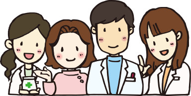 様々な医療機関、他職種の人々と「連携」します。